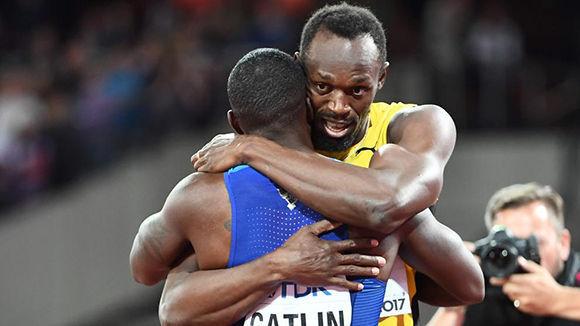 Usain Bolt en su última final de los 100 metros lisos en el Mundial de Atletismo de Londres. Foto: EFE.