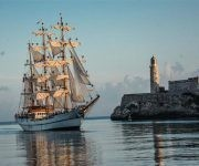 Arribo del Buque Escuela Guayas de la armada de la República del Ecuador, al Puerto de La Habana, en visita oficial, el 12 de agosto de 2017. ACN FOTO/Marcelino VAZQUEZ HERNANDEZ/sdl