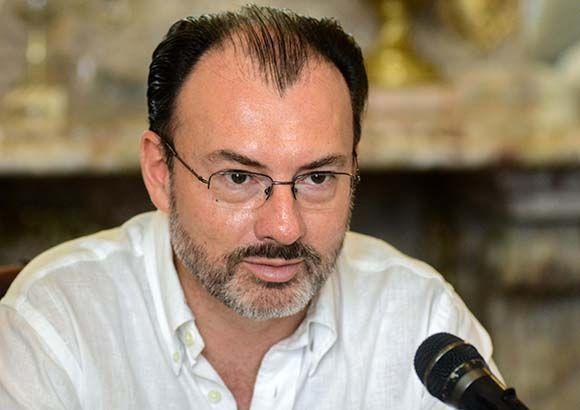 Luis Videgaray, secretario de Relaciones Exteriores de México, durante las conversaciones oficiales sostenidas con su homólogo de Cuba, en la sede de la Cancillería cubana, en La Habana, el 18 de agosto de 2017. Foto: Abel Padrón Padilla/ ACN.
