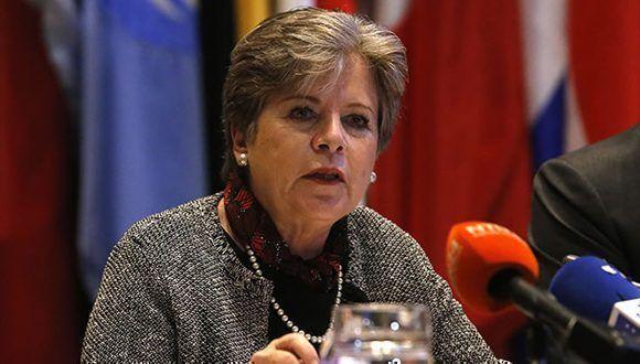Alicia Bárcena, Secretaria Ejecutiva de la CEPAL, durante la presentación del informe. Foto: Carlos Vera/CEPAL
