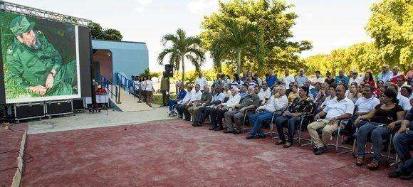 Al acto acudieron Miguel Díaz-Canel, Mercedes López Acea, José Ramón Fernández, Reinaldo García Zapata, Antonio Becali, entre otras personalidades del deporte y la política de Cuba. Foto: Ismael Francisco/ Cubadebate.