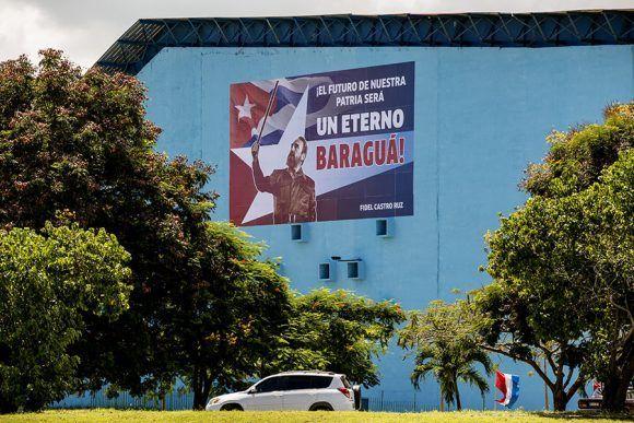 La reinauguración de las piscinas Baraguá estuvo dedicada al 91 cumpleaños de Fidel. Foto: Ismael Francisco/ Cubadebate.