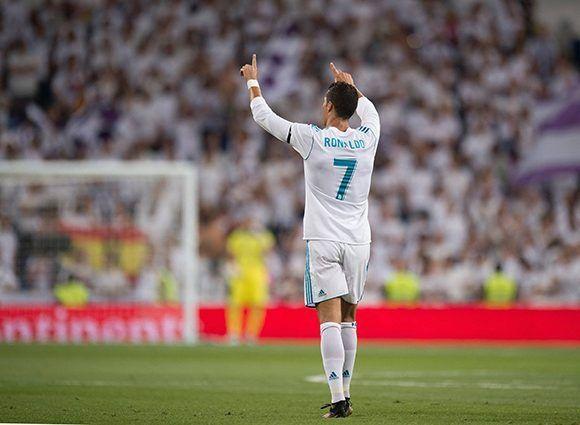 Cristiano Ronaldo decidió el Trofeo Bernabéu con un golazo ante la Fiore. Foto: getty Images.