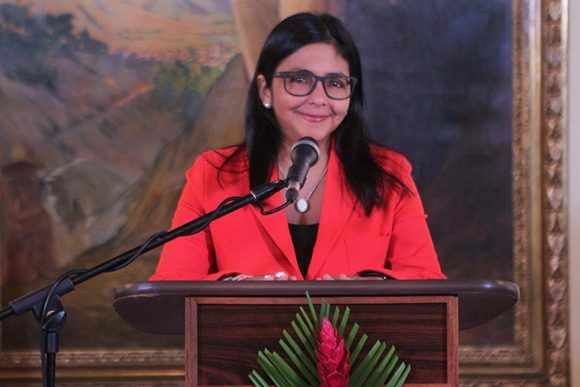 Delcy Rodríguez, la presidenta de la Asamblea Nacional Constituyente. Foto: VTV.