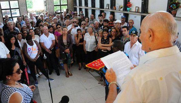 Despedida de duelo al Dr. en Ciencias Adolfo Rodríguez Nodals. Foto: Juvenal Balán