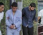 Dris Oukabir, Mohamed Houli Chemlal, Salah El Karib y Mohamed Aallaa. En vídeo, quiénes son los cuatro detenidos. Foto: EFE.