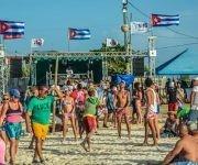 Momentos de la sexta edición del Festival Nacional de música Electrónica, clausurado en las arenas de la playa Caletones, municipio de Gibara,  Holguín. Foto: Juan Pablo Carreras/ ACN.