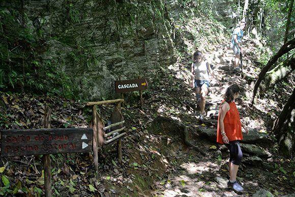 Desandando senderos de montaña se llega al Salto del Caburní, una preciosidad de la naturaleza del Gran Parque Natural Topes de Collantes, en Sancti Spíritus, Cuba. Foto: Oscar Alfonso Sosa/ ACN.
