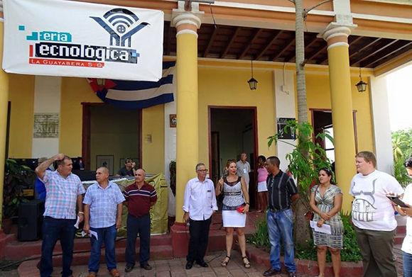 La II Feria Tecnológica La Guayabera 5.0 está dedicada al Festival Mundial de la Juventud y los Estudiantes. Foto: Cultura espirituana/ Escambray.