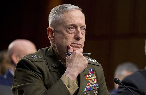 Secretario de Defensa estadounidense, James Mattis. Foto: AP.