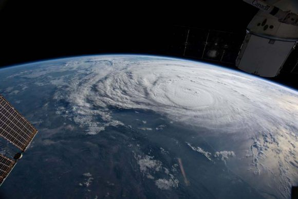Imagen del Huracán Harvey desde la Estación Espacial Internacional. Foto: NASA