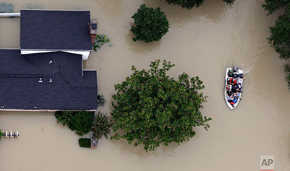 Houston ayer. Foto: AP.