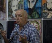 Intervención de José Alejandro Rodríguez durante las honras fúnebres a Antonio Moltó Martorell, quien fuera presidente de la Unión de Periodistas de Cuba. Foto: Irene Pérez/ Cubadebate.