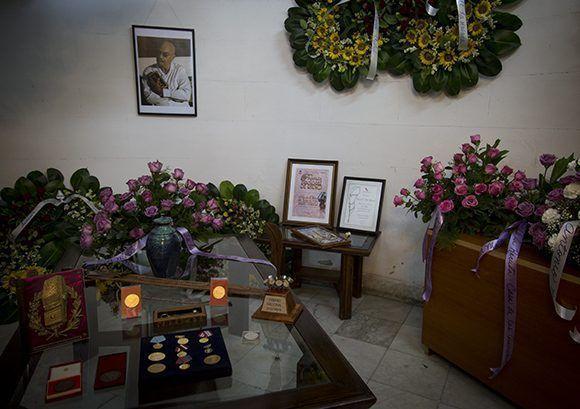 Honras fúnebres al destacado periodista Antonio Moltó Martorell, quien fuera presidente de la Unión de Periodistas de Cuba. Foto: Irene Pérez/ Cubadebate.