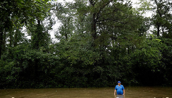 Las aguas de la tormenta tropical Harvey. Foto: AP.