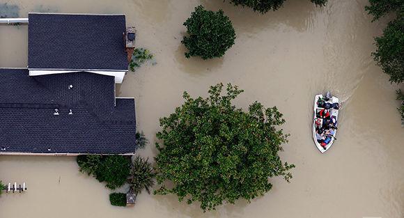 La aguas cubren Houston. Foto: AP.