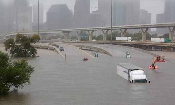 El agua sepultó Houston, la cuarta ciudad más grande de Estados Unidos. Foto: Richard Carson/ Reuters.