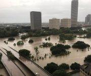 Aspecto de la zona de Buffalo Bayou, Houston, el domingo. Foto: Reuters.
