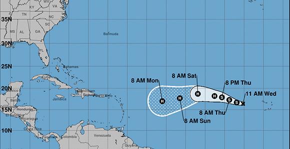 Irma, la novena tormenta tropical de la actual temporada. Foto: NHC/ NOAA.