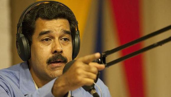 Maduro durante un programa radial. Foto: EFE.