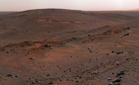 Las rocas del planeta rojo. FOTO: NASA.