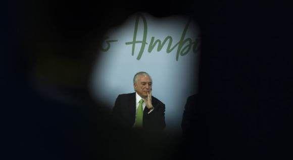 El parlamento de Brasil salvó a Michel Temer de ser investigado por corrupción. Foto: EFE.
