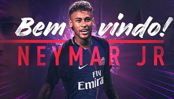 La imagen con la que el PSG anunció el fichaje de Neymar. Foto: PSG_inside/ Twitter.