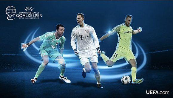 ¿Buffon, Neuer u Oblak? Foto: UEFA.