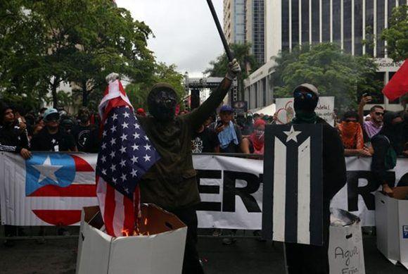 Protestas en Puerto Rico contra la deuda que el pide Estados Unidos. Foto: EPA.