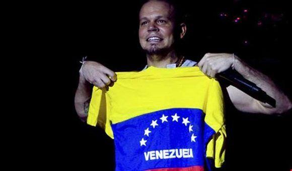"""Residente:  """"Venezuela es un país hermoso"""". Foto tomada de Al Mayadeen."""