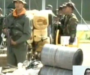 Parte de lo incautado a Los Rastrojos durante el operativo. | Foto: Captura VTV