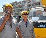 Linieros de Santiago de Cuba apoyan la recuperación. Foto: Vanguardia