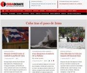Portada de Cubadebate en la mañana del 11 de septiembre de 2017