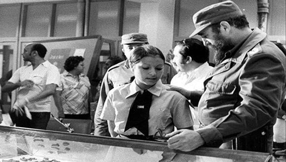 Fidel Castro inaugura el primero de septiembre del año 1977. Foto: Archivo.