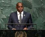 Roosevelt Skerrit, primer ministro de Dominica, en la Asamblea General de la ONU. Foto: ONU.