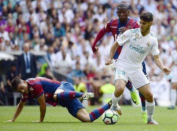 Esta vez la magia de Marco Asensio no salvó al Real Madrid. Foto: AFP.