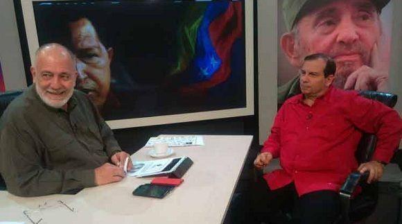 Fernando González Llort en los estudios de VTV. Foto: VTV.