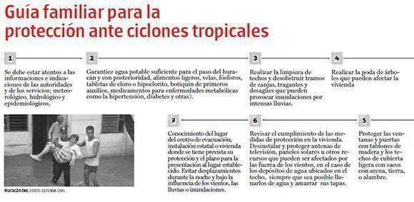 Guía familiar para la protección ante ciclones tropicales.