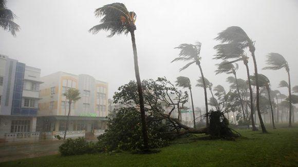 Ráfagas de viento del huracán Irma en Miami. Foto: Reuters.