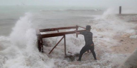 María dejó abundante lluvia en Punta Cana, República Dominicana. Foto: Ricardo Rojas / EL TIEMPO