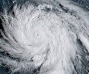 "This satellite image obtained from the National Oceanic and Atmospheric Administration (NOAA) shows Hurricane Maria at 1130 UTC on September 19, 2017.  Maria hit the eastern Caribbean island of Dominica on Tuesday, with its prime minister describing devastating damage as winds and rain from the powerful storm also hit territories still reeling from Irma. As residents hunkered down in their homes the Category Five hurricane made landfall with top winds swirling at 160mph (257kph), the US National Hurricane Center said.   / AFP PHOTO / NOAA/RAMMB / Jose ROMERO / RESTRICTED TO EDITORIAL USE - MANDATORY CREDIT ""AFP PHOTO / NOAA/RAMMB"" - NO MARKETING NO ADVERTISING CAMPAIGNS - DISTRIBUTED AS A SERVICE TO CLIENTS"