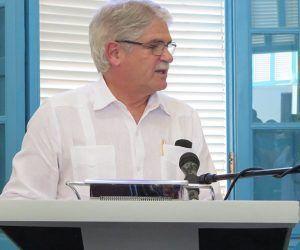 Dastis reconoció el trabajo de Eusebio Leal en la restauración de La Habana Vieja. Foto: Thalía Fuentes/ Cubadebate.
