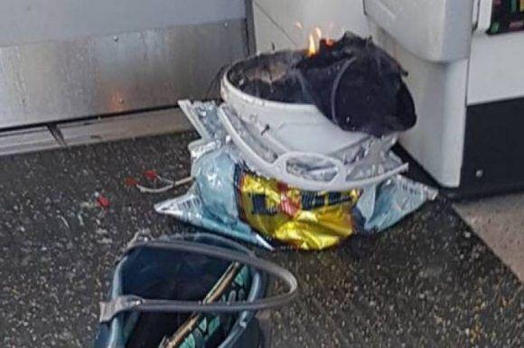 Imagen del explosivo. Foto: @Rrigs.