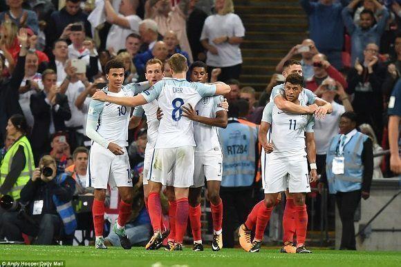 Inglaterra superó 2-1 a Eslovaquia para afianzarse con 20 puntos en la cima del grupo eliminatorio F hacia la Copa Mundial. Foto: Andy Hooper/ Daily Mail.
