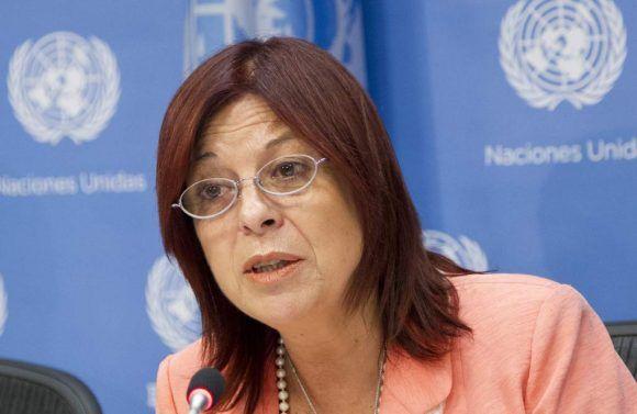María Cristina Perceval. Foto tomada del sitio oficial de la ONU.