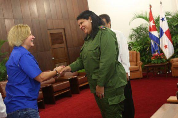 Vicepresidenta del Consejo de Estado en Cuba recibe a Primera Dama de Panamá