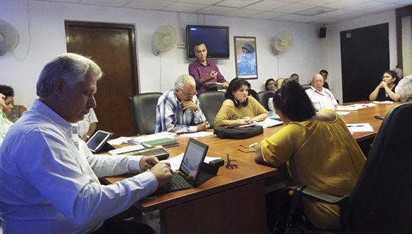 Miguel Díaz-Canel asiste a Consejo del Instituto Cubano de Radio y Televisión Foto: Salome Campanioni / Radio Cubana