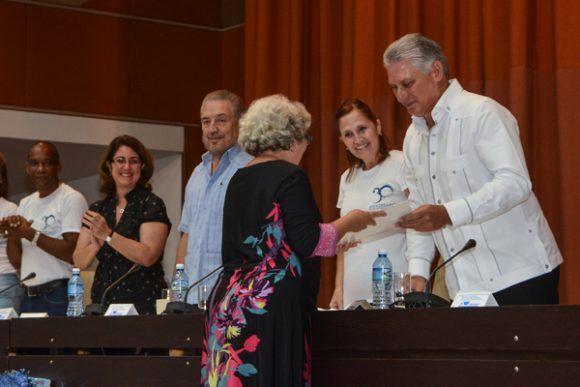 Miguel Díaz Canel en el acto. Foto: Marcelino Vázquez/ ACN.