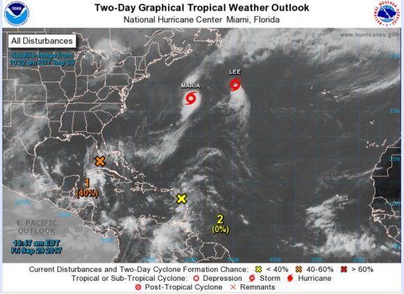 Captura de pantalla del sitio de NOAA.