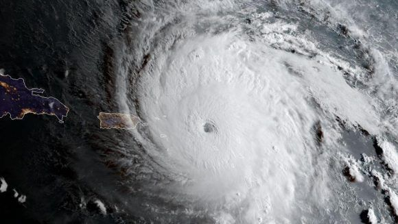 El huracán cerca del territorio de Antigua y Barbuda. Foto: Archivo.